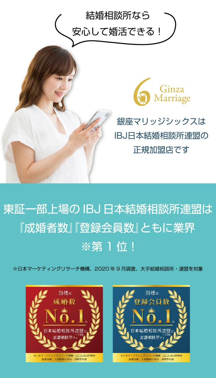 銀座マリッジシックスは日本結婚相談所連盟の正規加盟店です